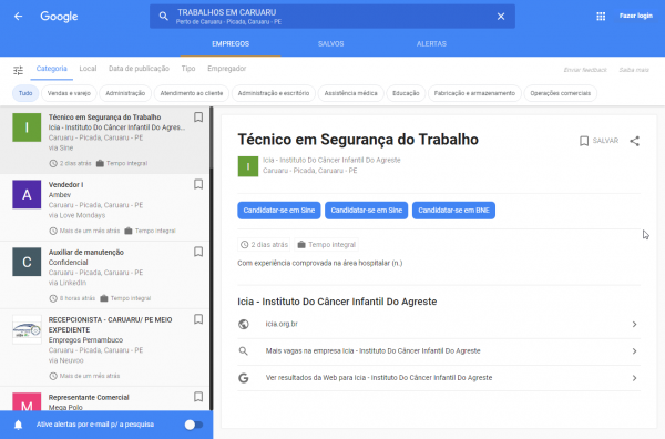 Update Brazil Too Google Search Job Hunt Feature Now