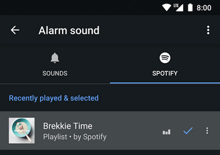 Google Clock can now connect alarms to Spotify