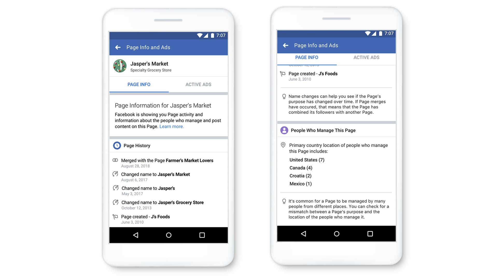 Facebook wants to make Pages more transparent