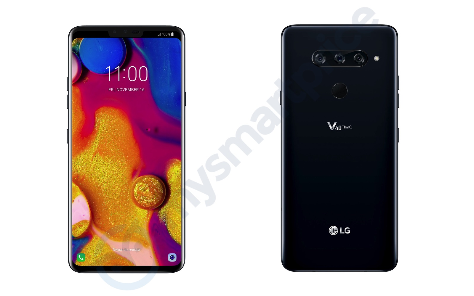 Official images show LG V40 ThinQ's triple camera and fingerprint resistant rear
