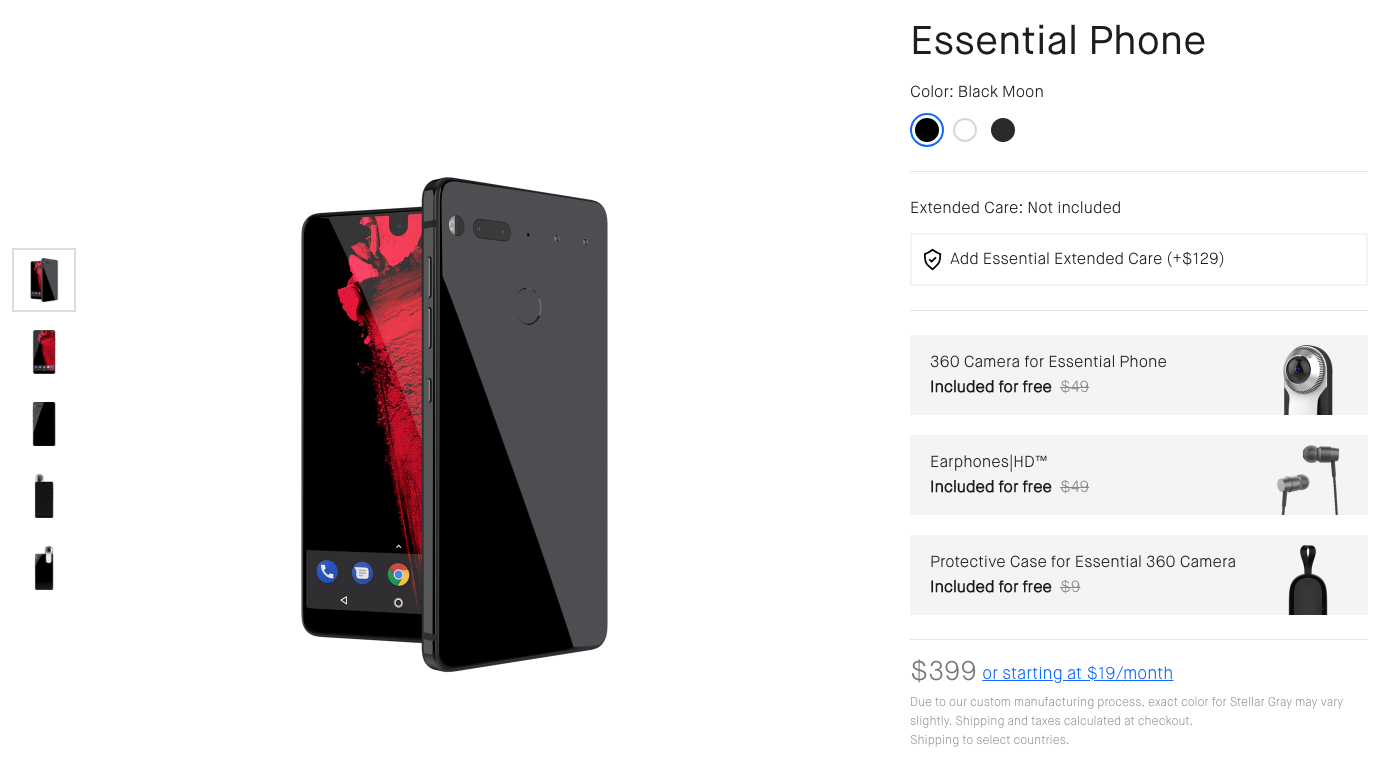 info for d4398 40a4f Deal Alert] Essential Phone being offered with free Earphones HD ...