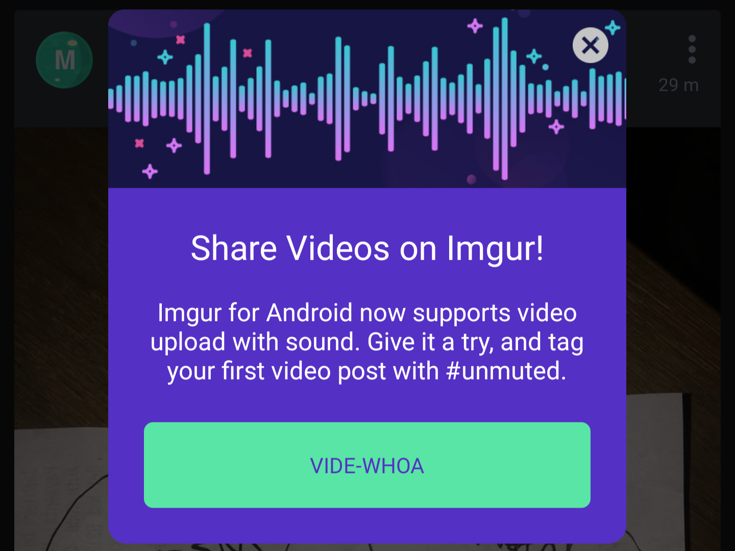 Imgur app update adds video upload with sound