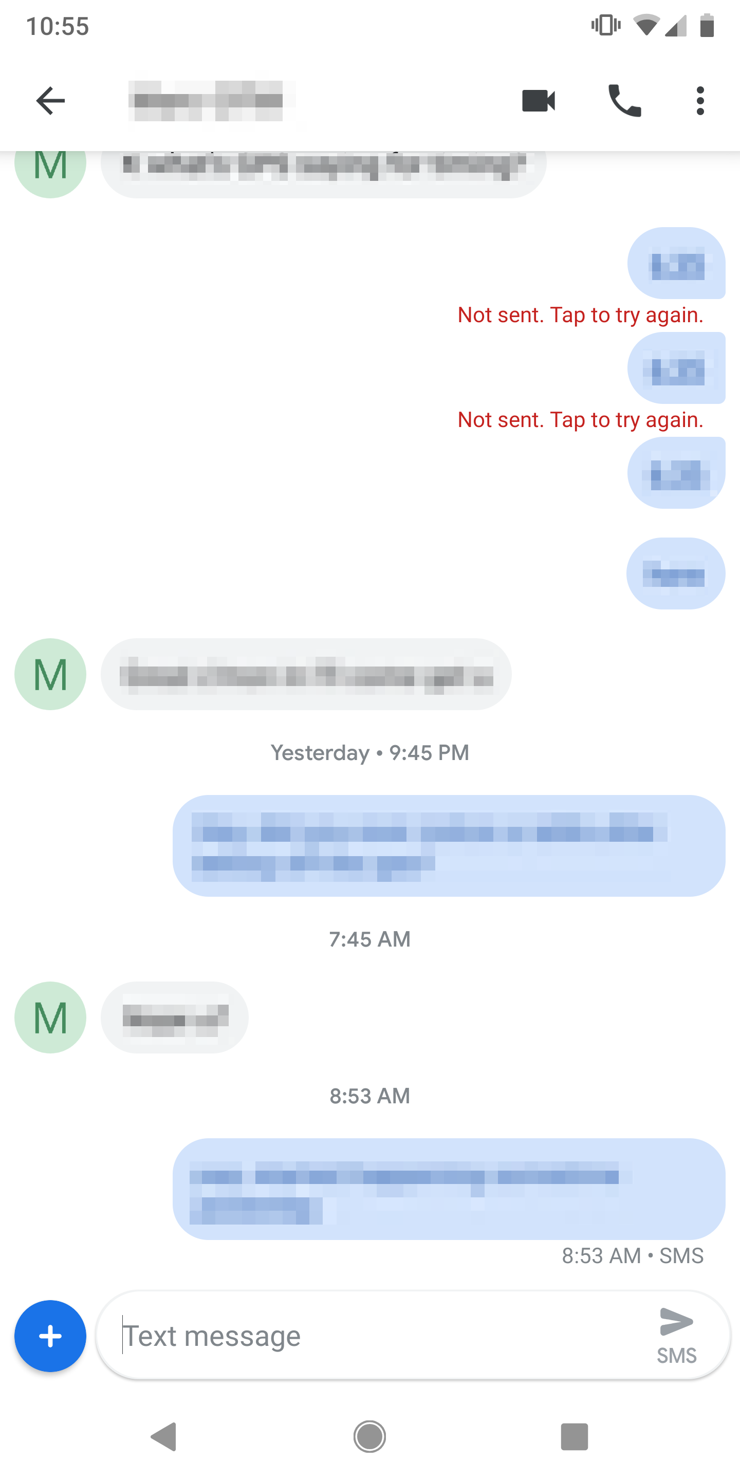 not android downloading are messages