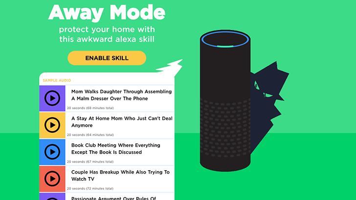 New Alexa skill 'Away Mode' wards off potential burglars using the power of awkward conversations
