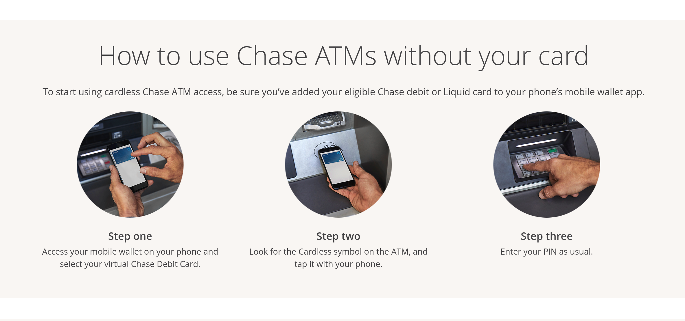 Chase customers can now withdraw cash using Google Pay or Samsung Pay