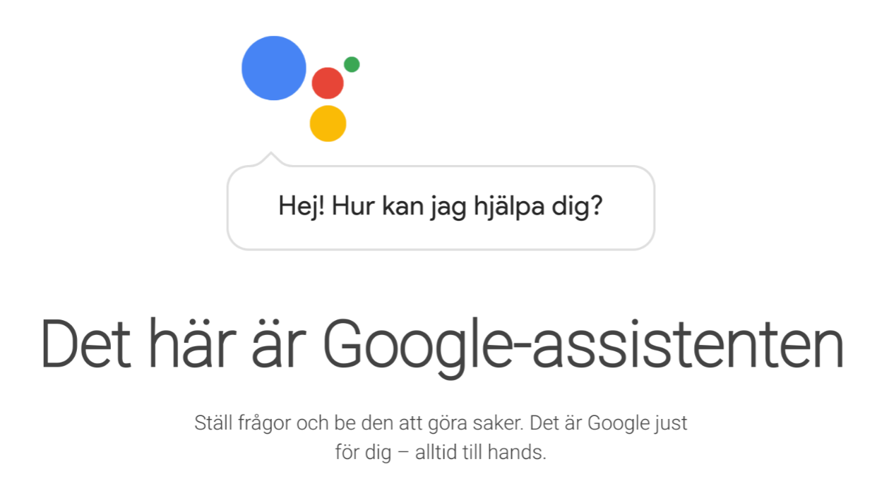 Google Assistant can now speak Swedish