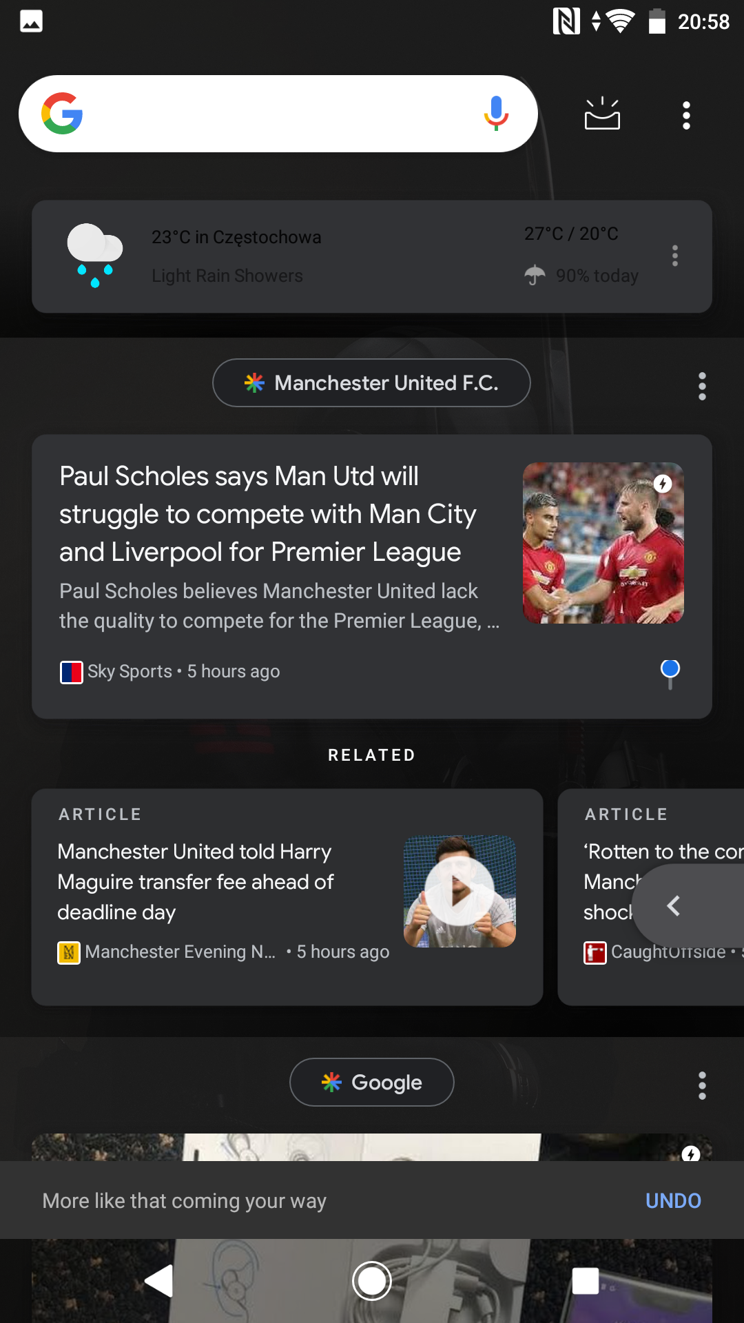 Google Feed tests an option to request more or less content like ...