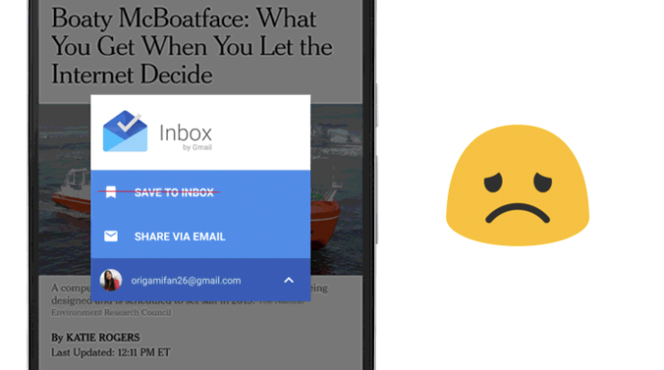 6ca30308c120c9 Google removes  Save to Inbox  feature from Android app