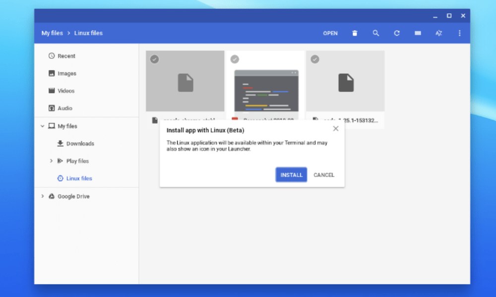 Chrome OS can now install Linux apps from  deb packages