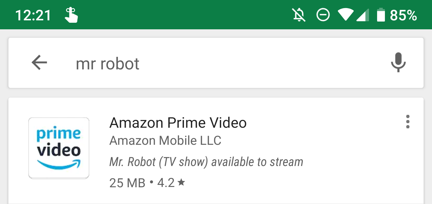 Google Play Store shows you the streaming apps that have the movie