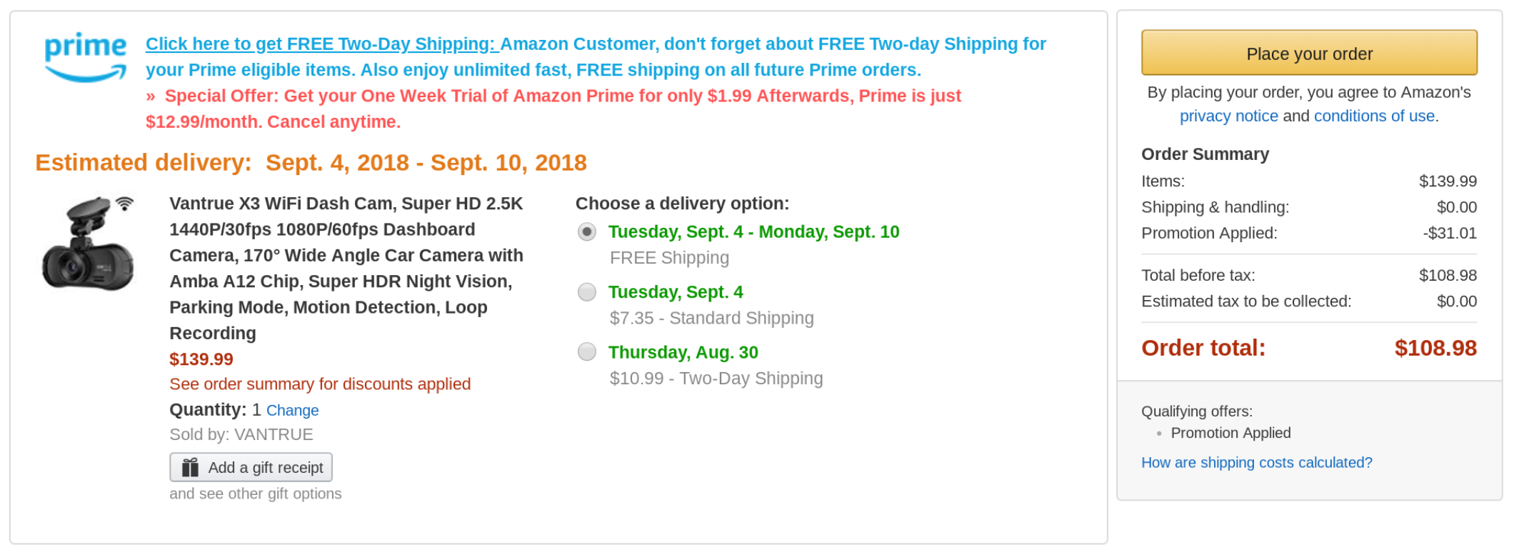 Deal Alert] Get a Vantrue X3 WiFi Dash Cam for $109 ($21 off) from ...