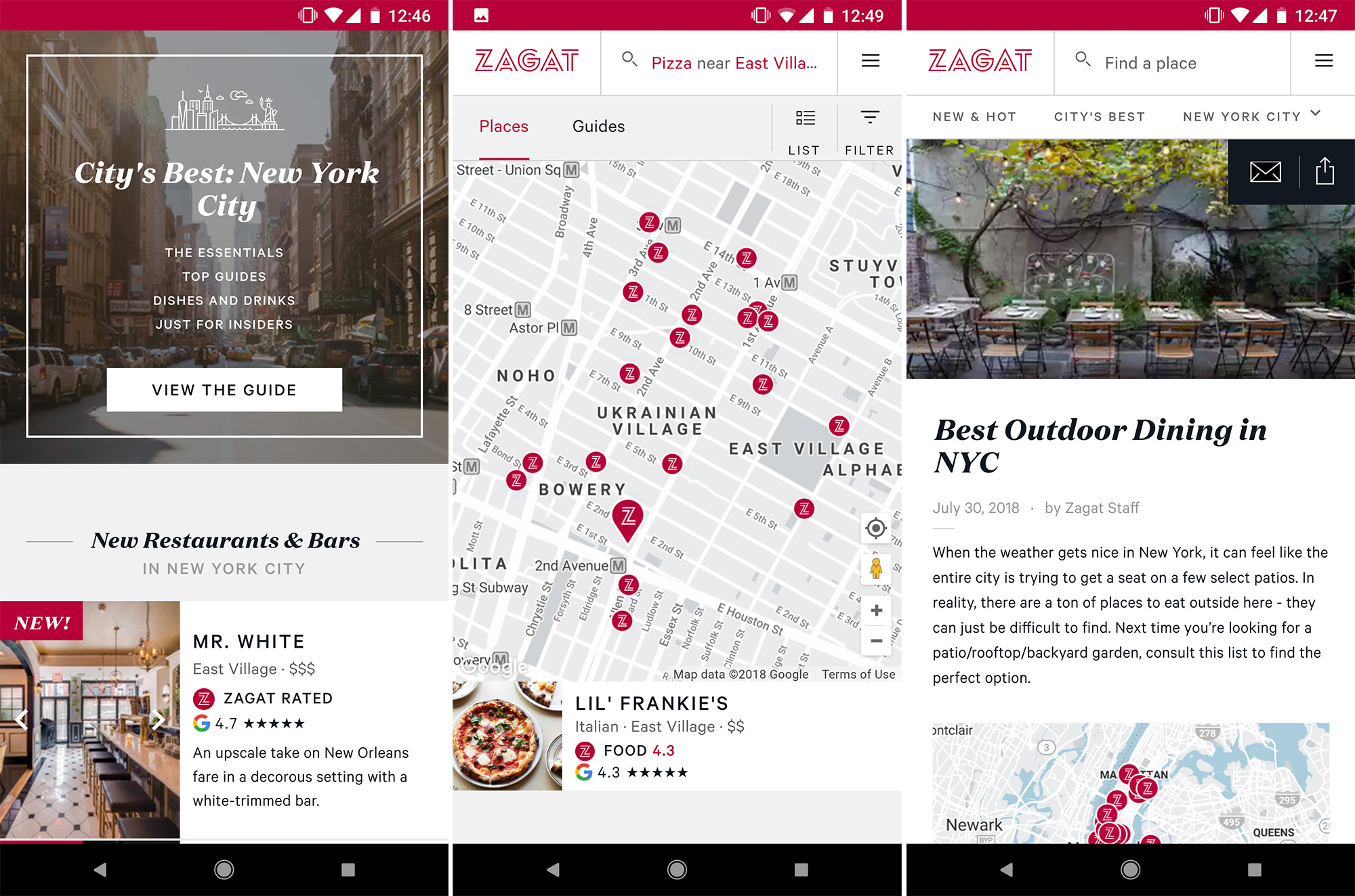 Zagat app gets a complete UI overhaul in latest update