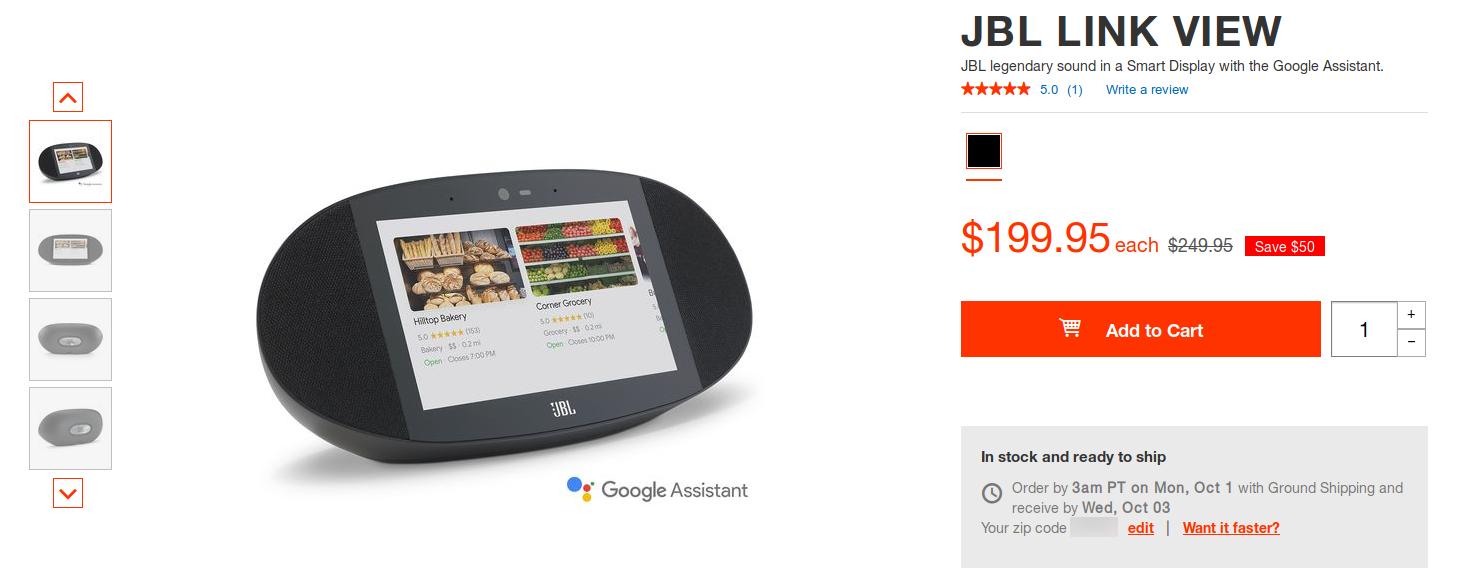 Deal Alert] Grab a JBL Link View smart display for $200 ($50