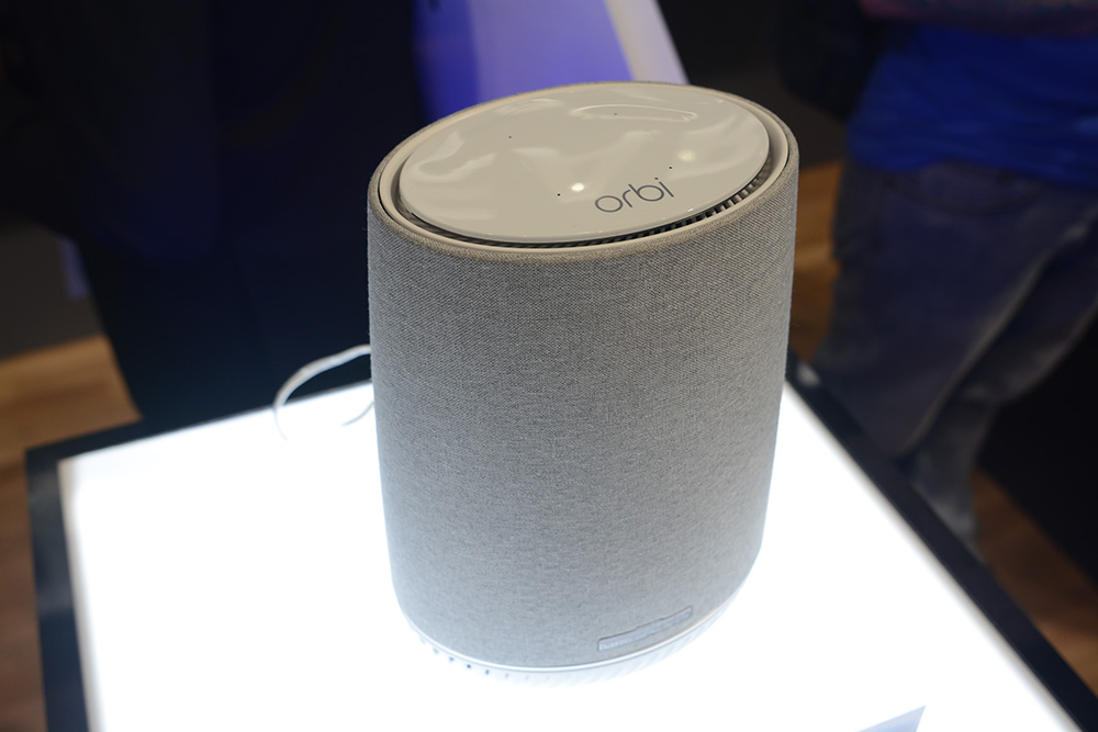 Orbi Voice is an Alexa-equipped smart speaker and mesh WiFi