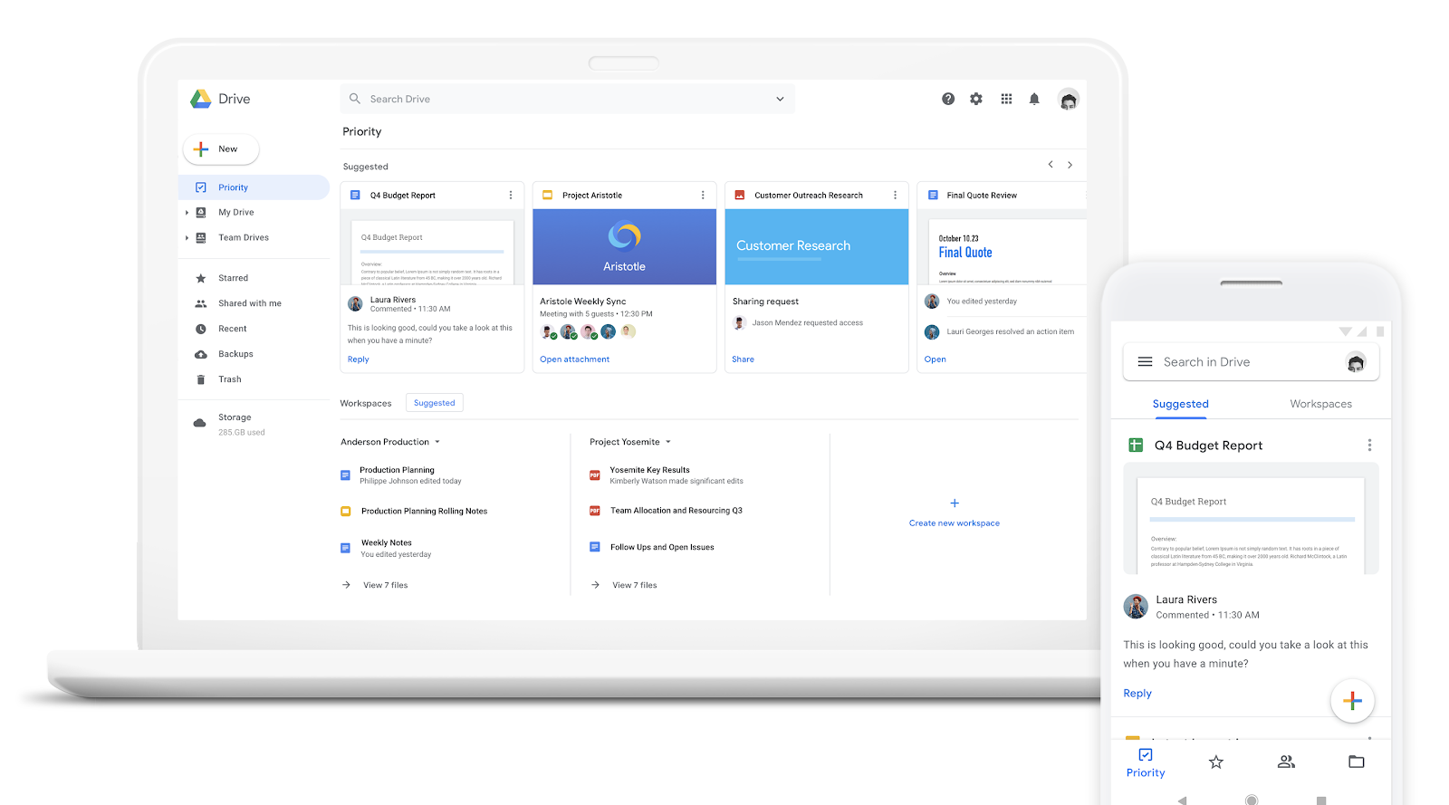 Google Drive's AI-driven Priority page is rolling out to G Suite accounts