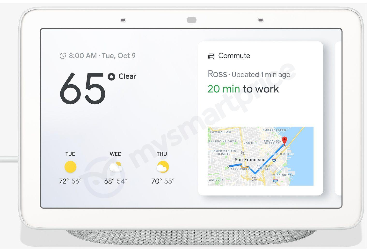 Google Home Hub smart speaker display rumoured to launch on October 9