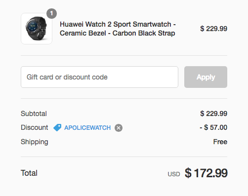 Deal Alert] Huawei Watch 2 Sport is just $173 ($56 off) with