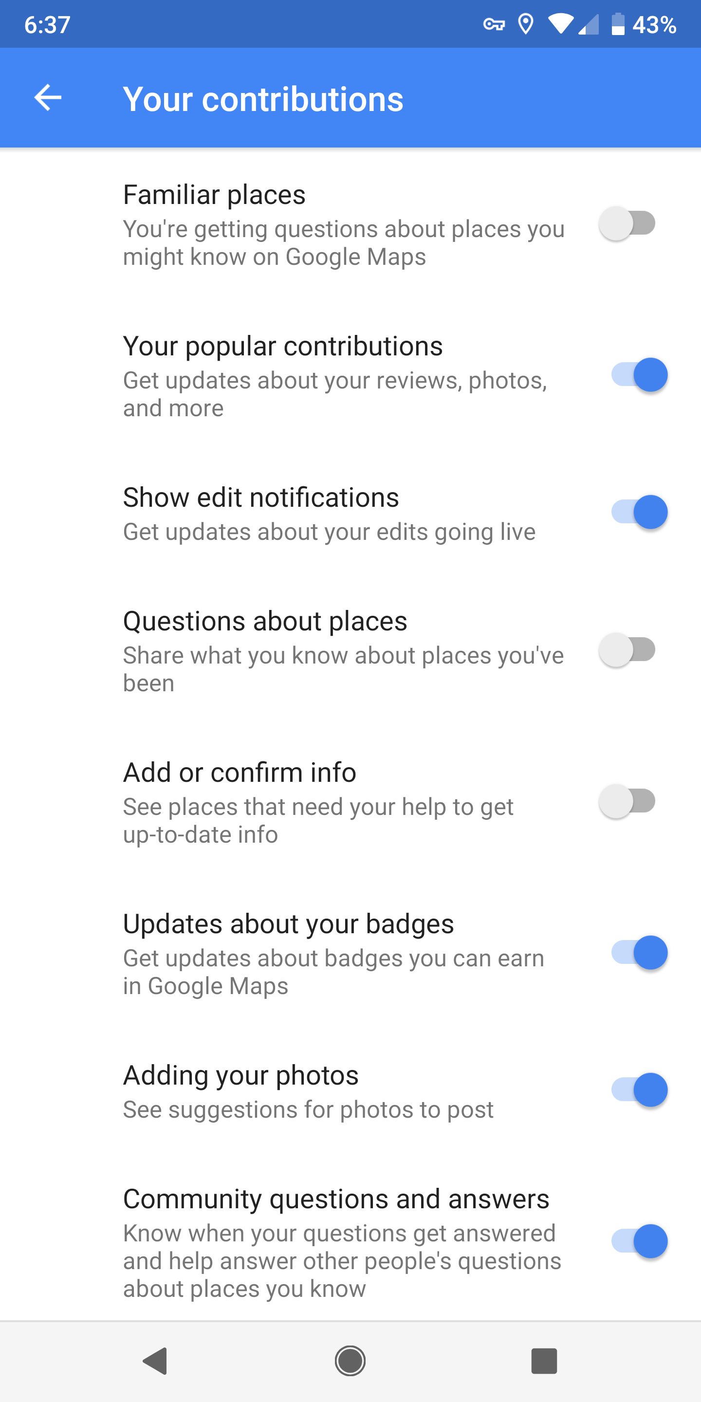 How to turn off those pesky Google Maps notifications