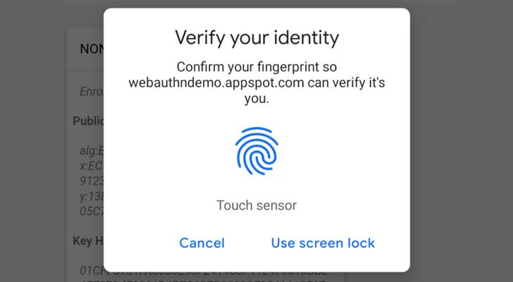 Chrome Beta 70 adds fingerprint login support for Web