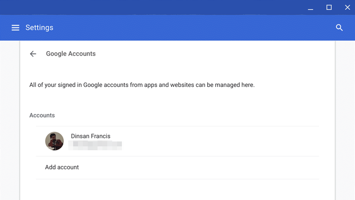 switch google accounts on android