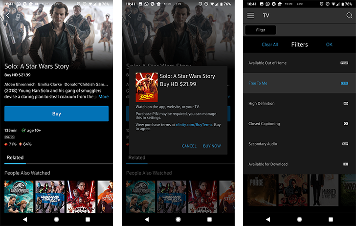 Xfinity Stream now lets you buy TV content in-app