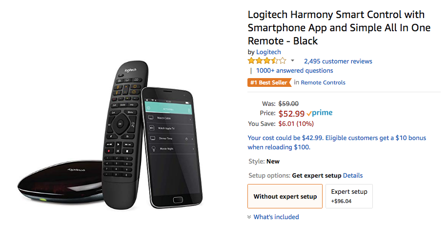d1579be8d5f Deal Alert] Logitech Harmony Smart Control down to $53 on Amazon