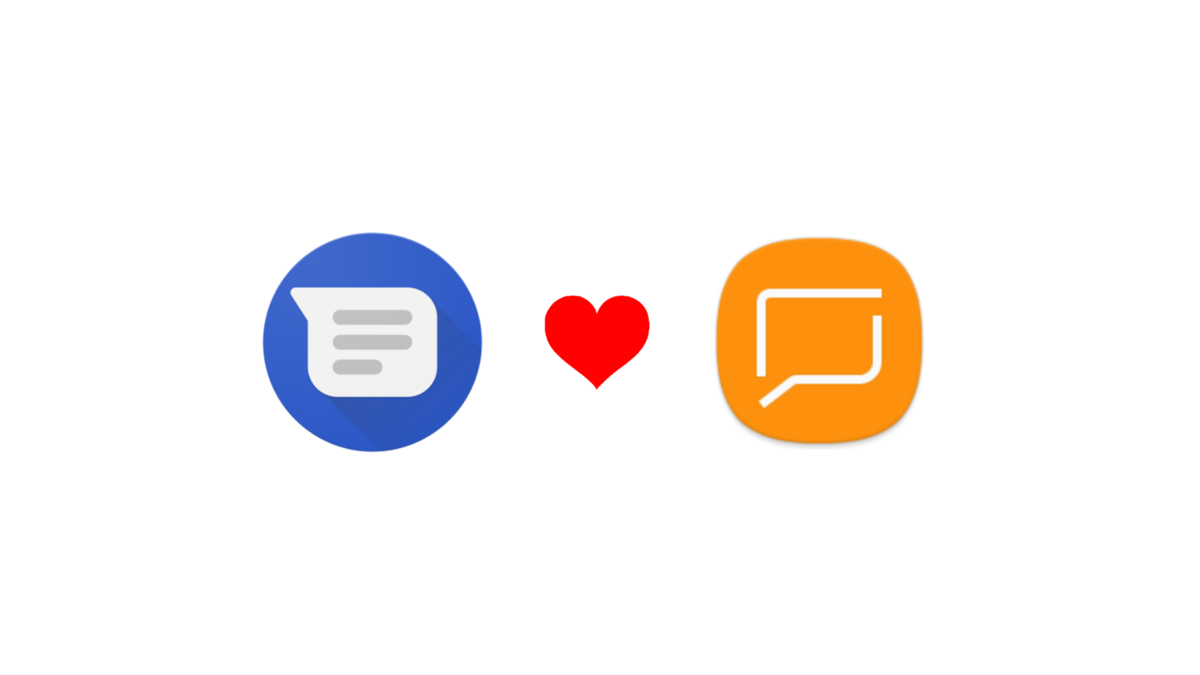 RCS features will work between Android Messages and Samsung Messages users