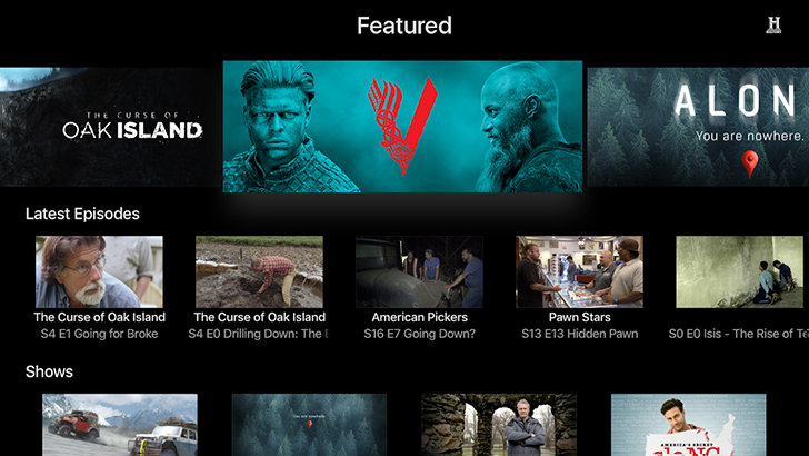 Update: They're back] Android TV apps now available for A&E