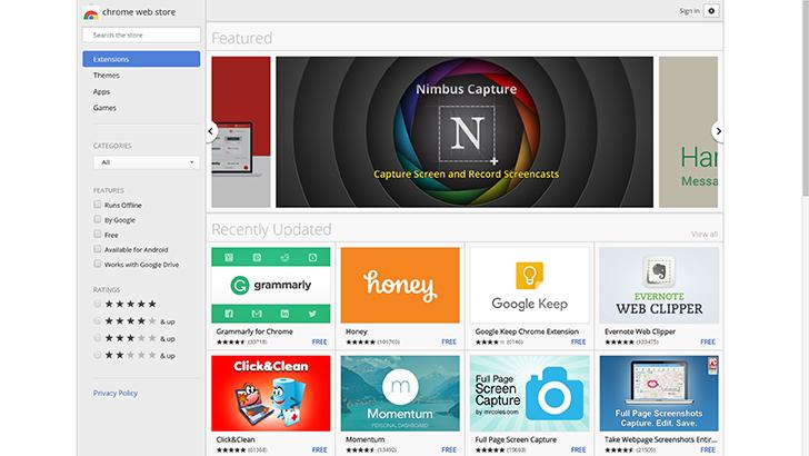 Google Chrome Store
