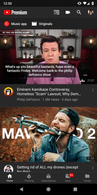 تفعيل الوضع الليلي Youtube