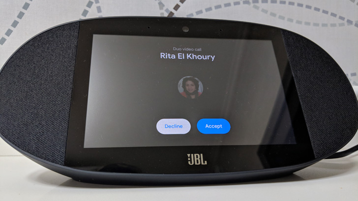 Tip: You can video call your Smart Display at home from your