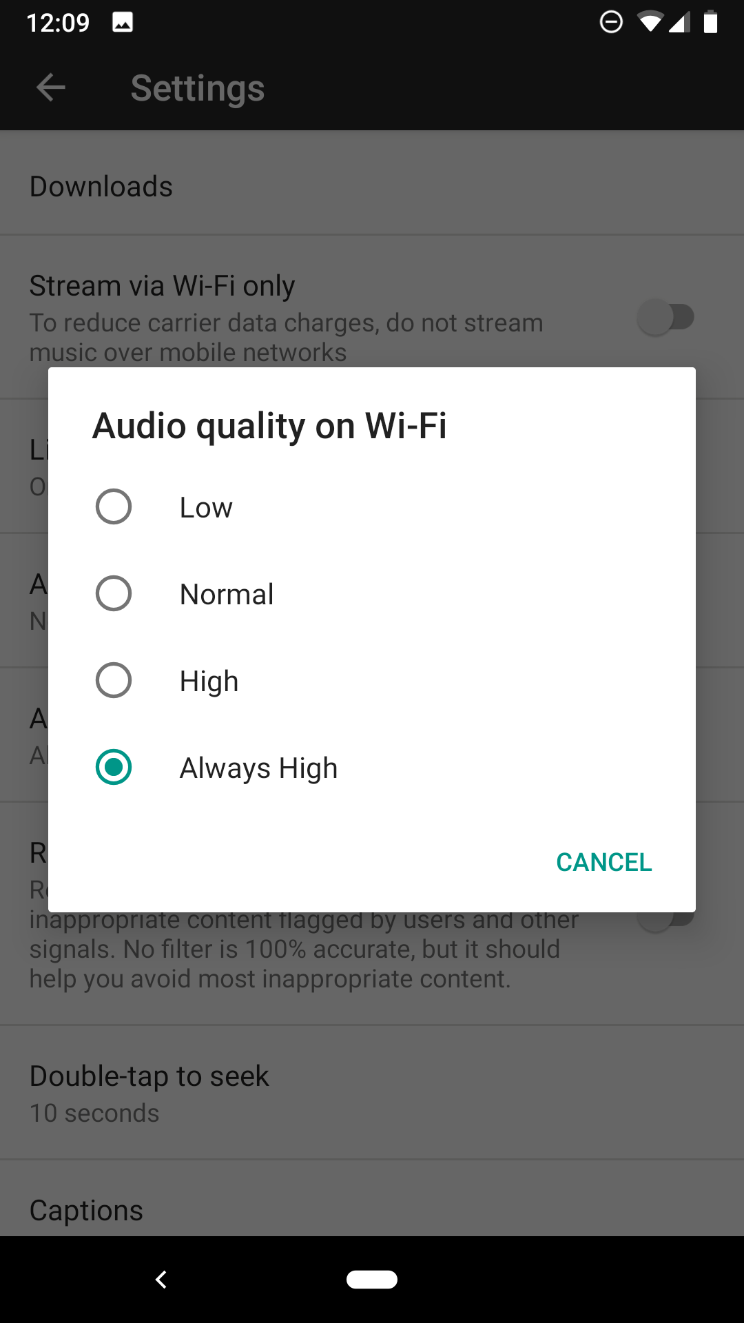 YouTube Music Premium gains audio quality controls, product team