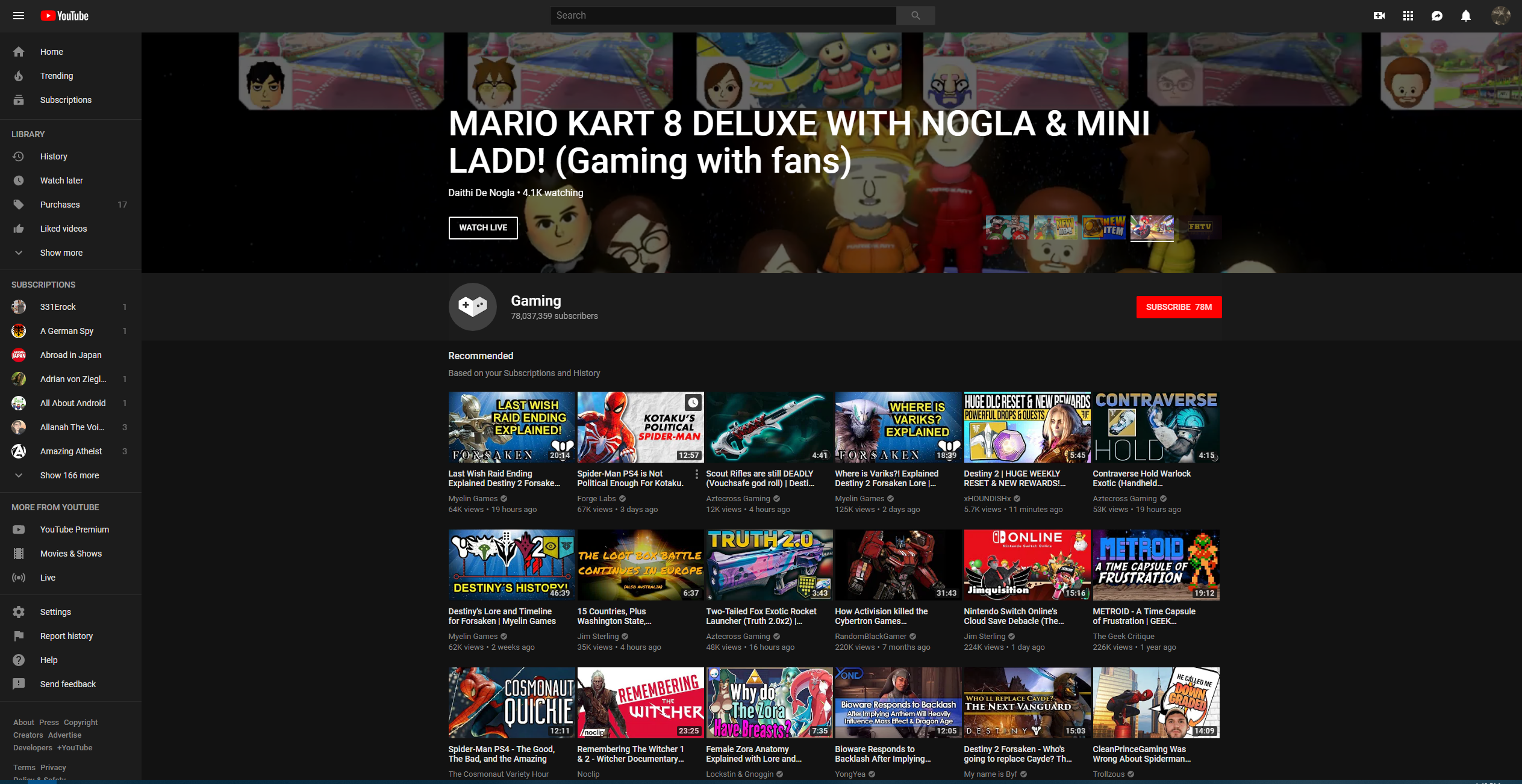 The YouTube Gaming app will be no more in March of 2019