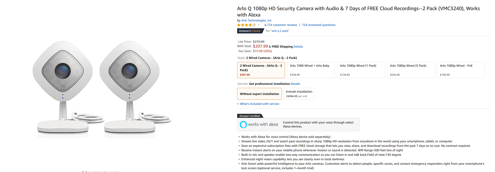Deal Alert Arlo Q 2 Pack Drops To 208 On Amazon 72 Off