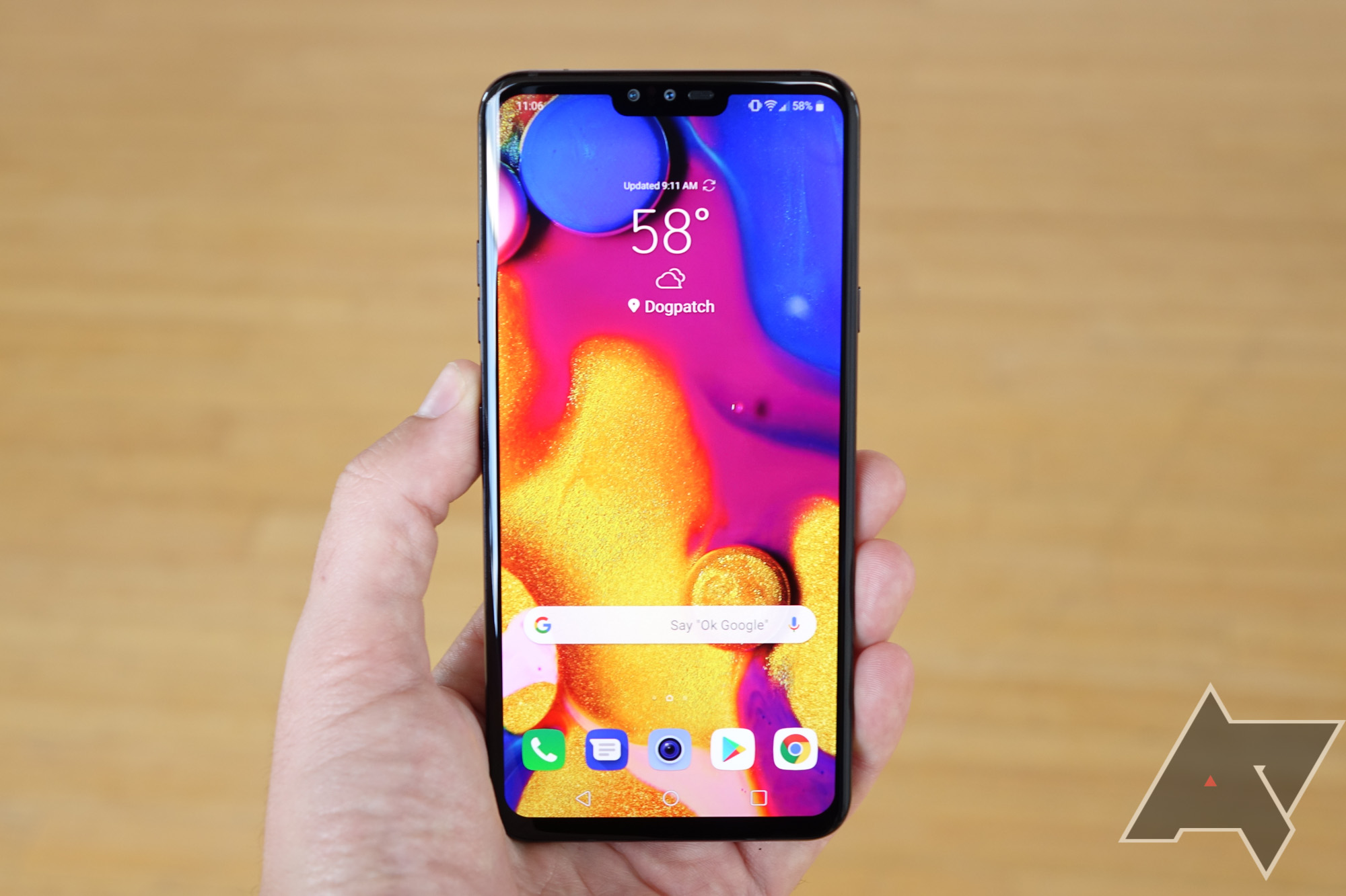 The V40 is LG's answer to the Galaxy Note 9 - and I used it