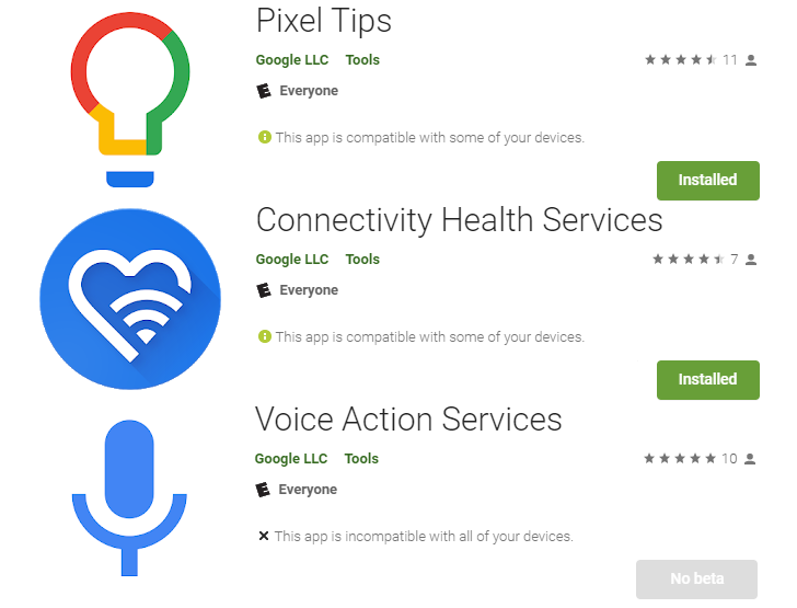 Google releases trio of new system apps to Play Store, including Pixel exclusives