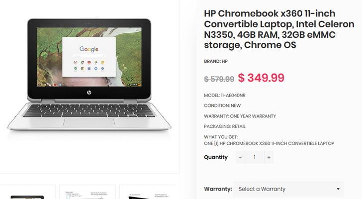 Deal Alert] Get the HP Chromebook x360 G1 EE for $250 ($100