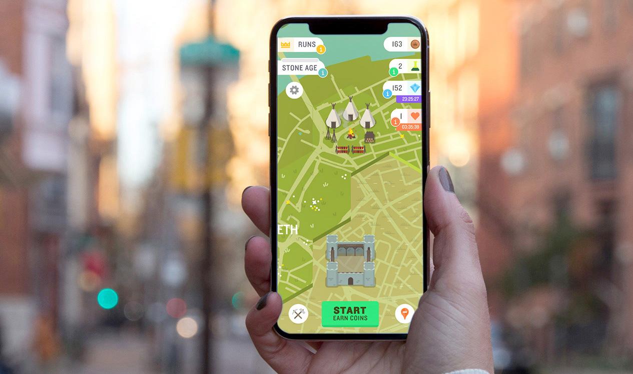 Walking exercise app