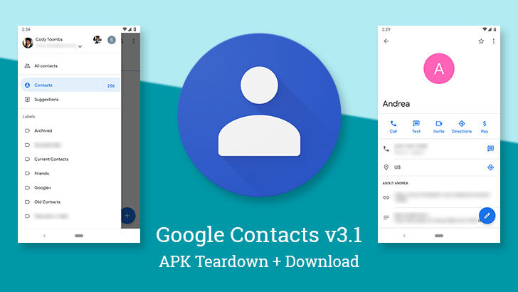 Google Contacts v3 1 comes with more visual updates and