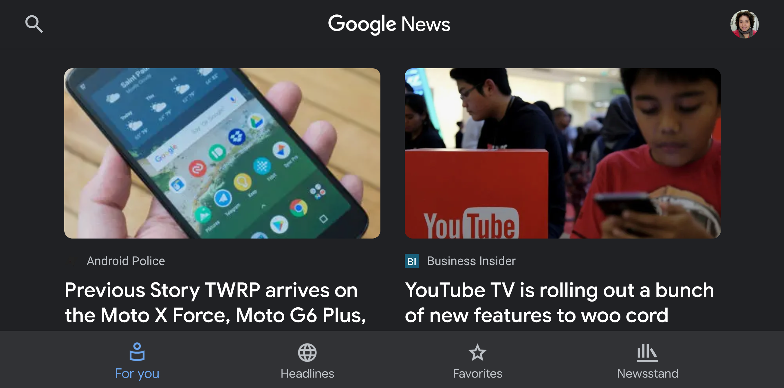 Google News 5 5 brings a dark theme to the entire app [APK