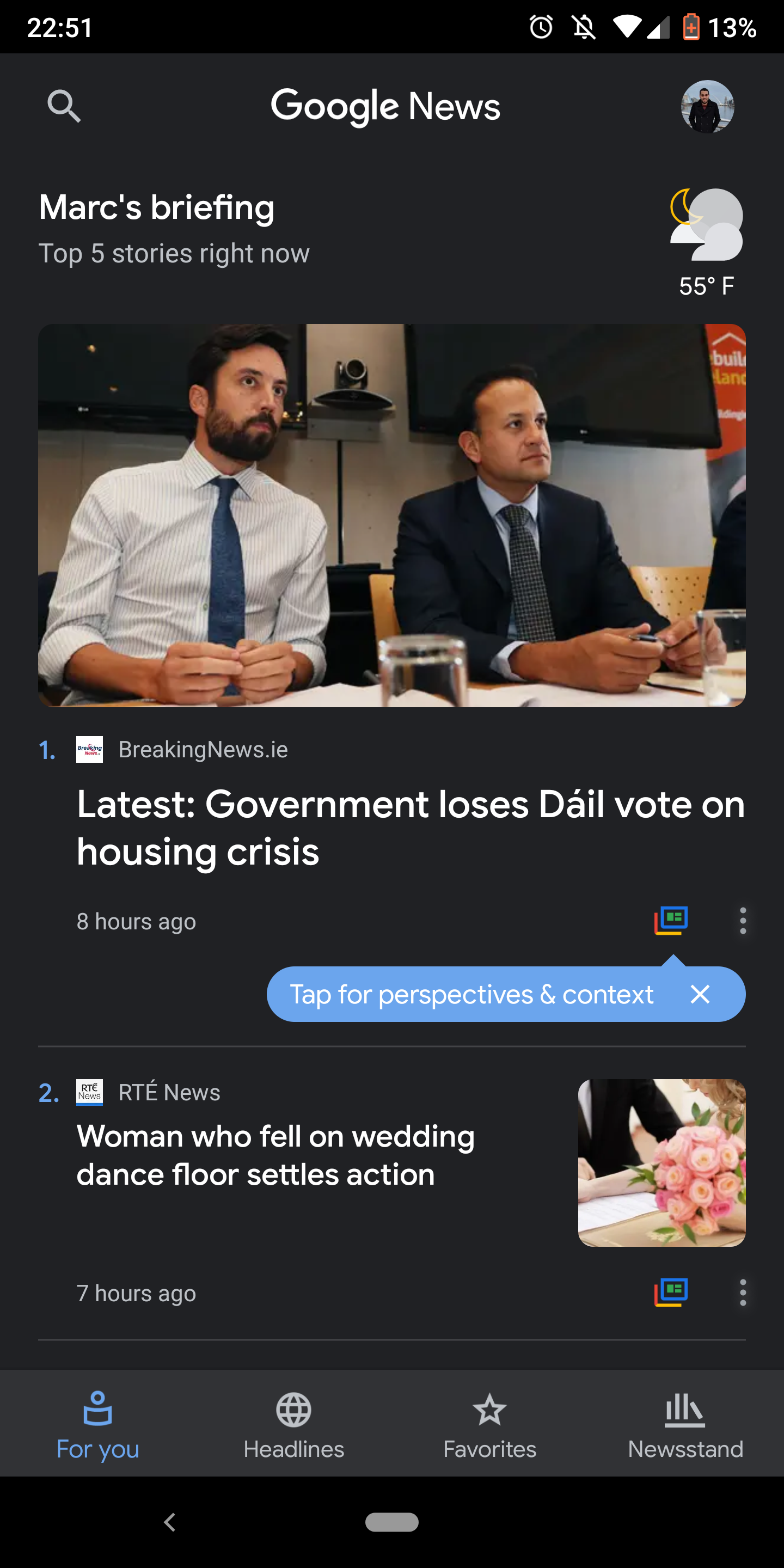 Google News 5 5 brings a dark theme to the entire app [APK Download]