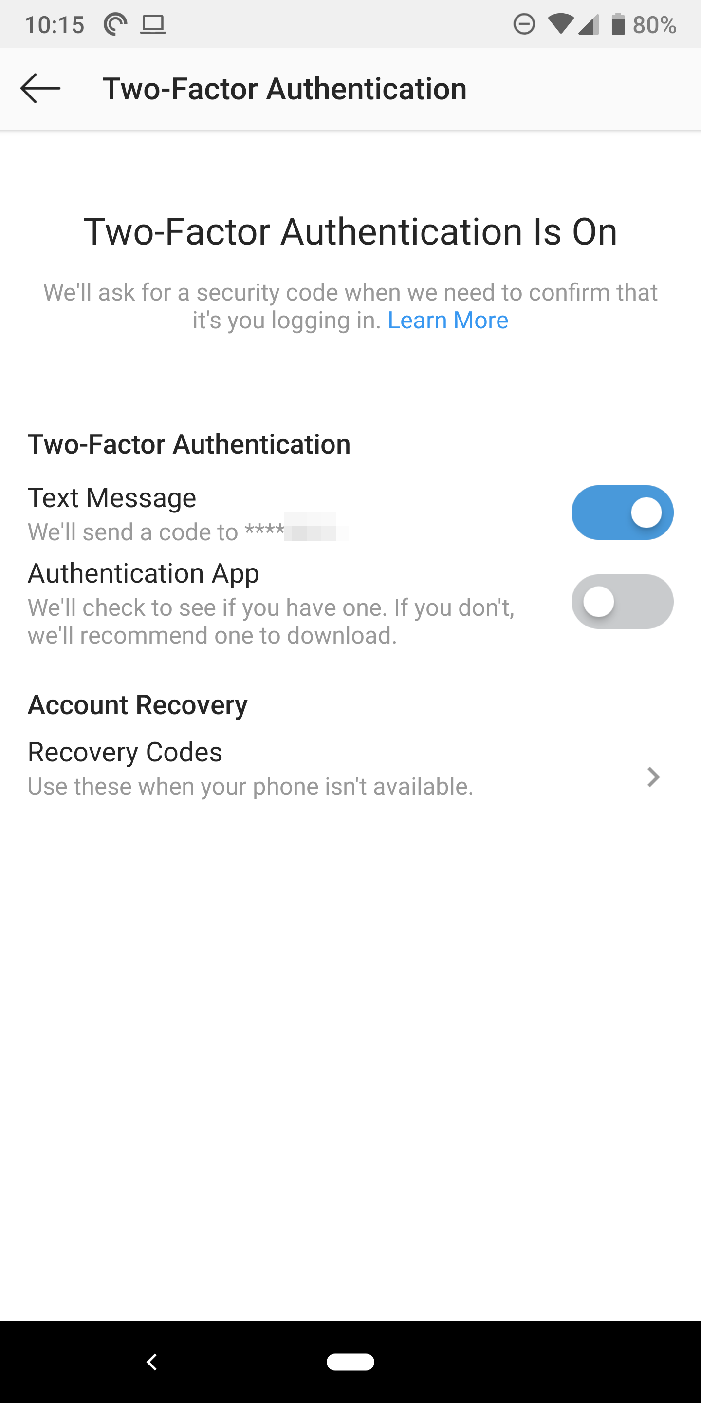 Instagram two-factor authentication app support is now live