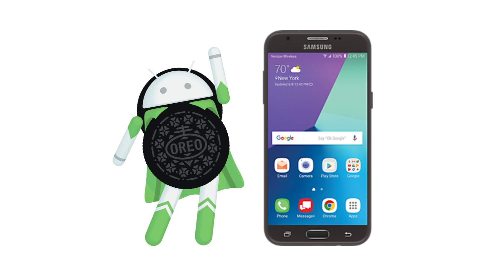Android 8 0 Oreo is rolling out now to the Samsung Galaxy J3