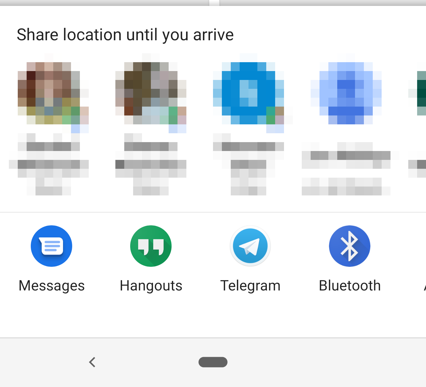 Google Maps lets you share your ETA via third-party apps