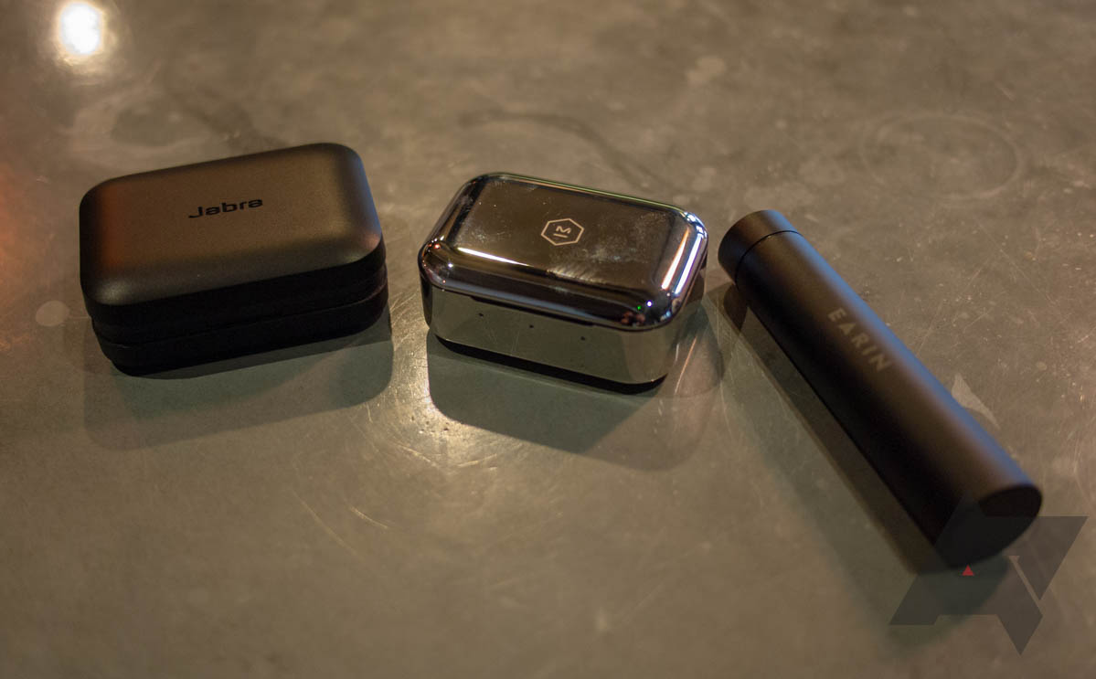 3766c92cdfc Cases from left to right: Jabra Elite Sport, M&D MW07, and Earin M–2.