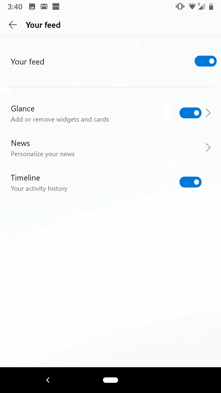 Microsoft Launcher v5 0 beta adds Timeline support for syncing
