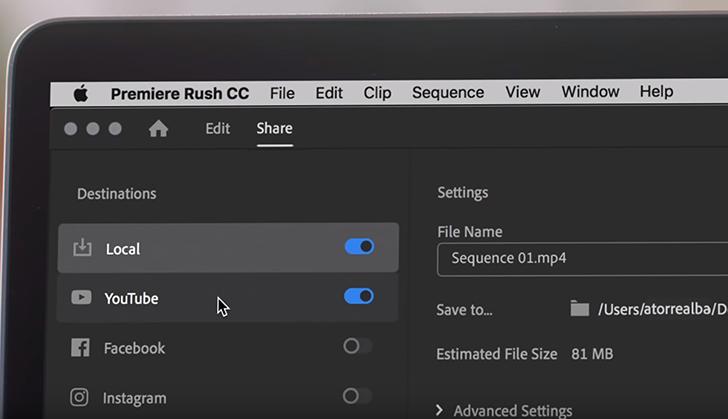 Adobe's new cross-device video editing app, Premiere Rush CC