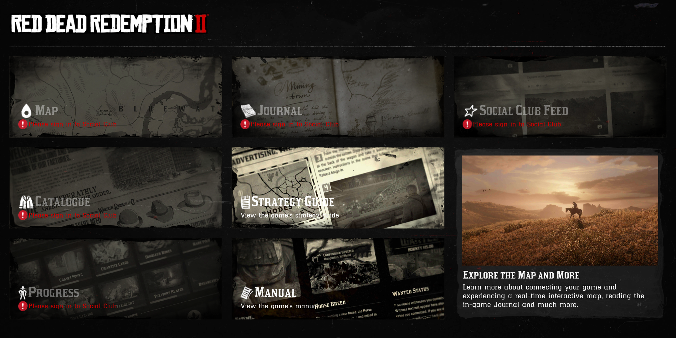 The Red Dead Redemption II Companion app can help you navigate the