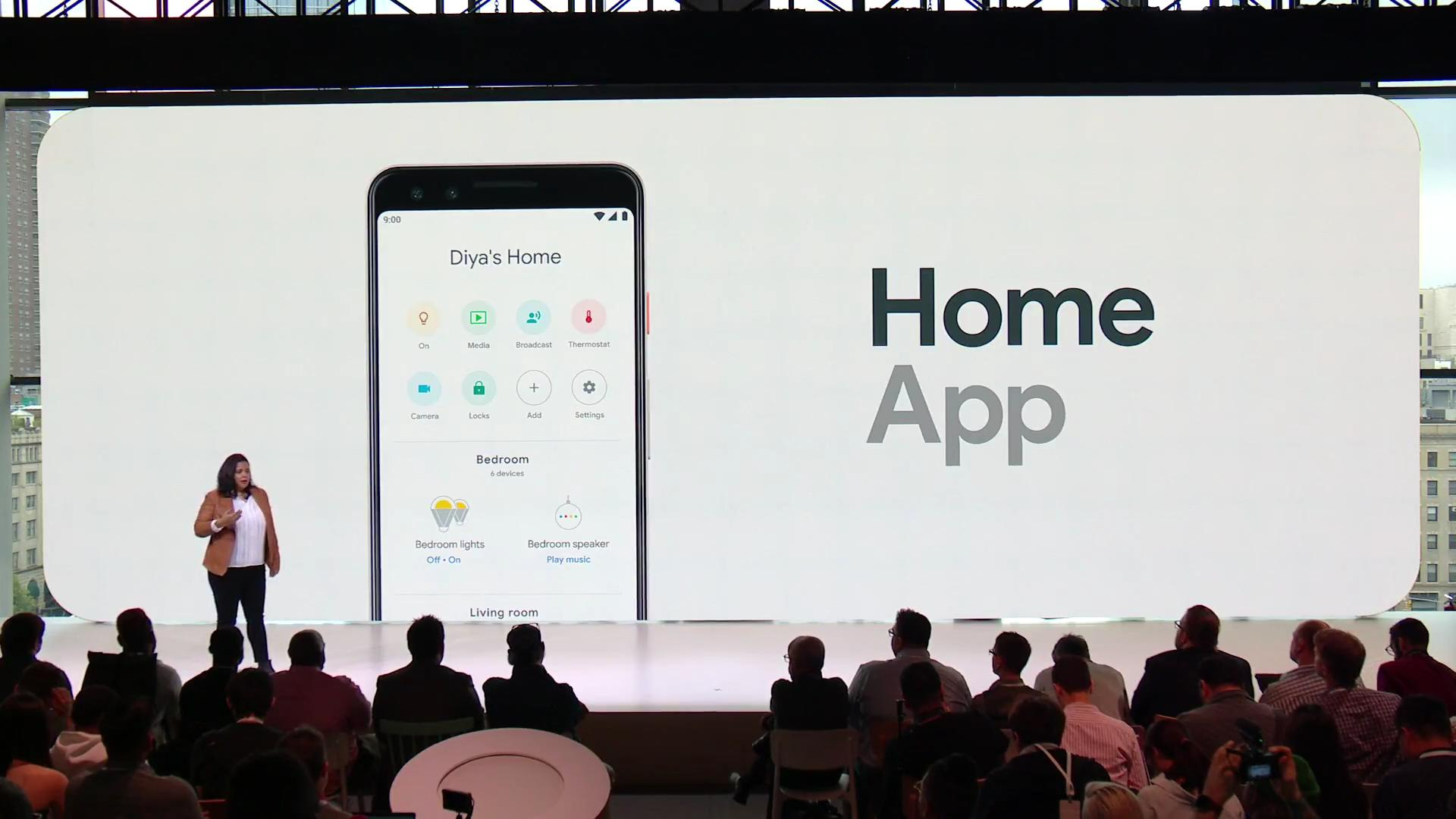 Google presented a new device Home Hub