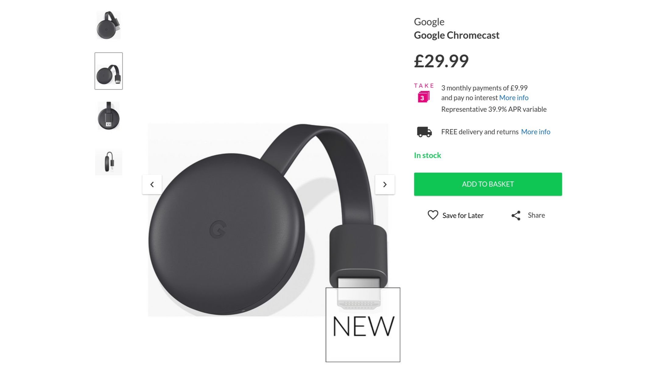 New Chromecast Costs Same $35, Comes in Chalk and Charcoal
